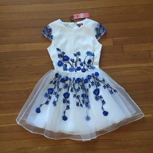 NEW WITH TAGS ModCloth Tulle Dress with Flowers